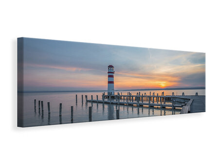 Panoramic Canvas Print Lighthouse in the sunset