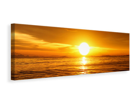 Panoramic Canvas Print Glowing Sunset On The Water