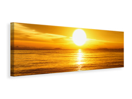 Panoramic Canvas Print Fantastic Sunset