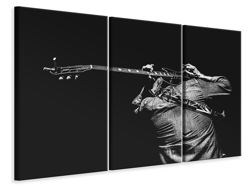 3 Piece Canvas Print The guitar game