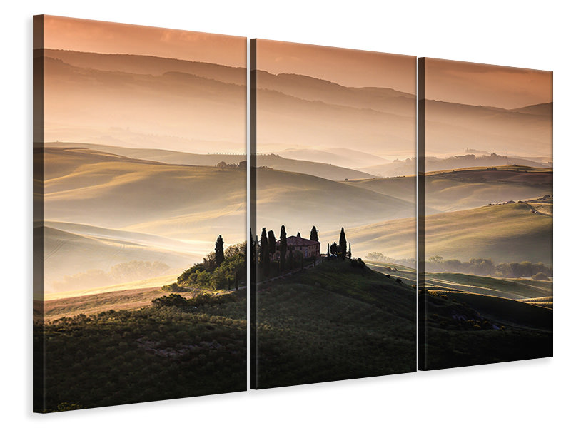3 Piece Canvas Print A Tuscan Country Landscape