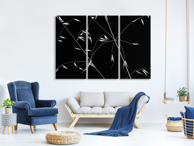 3 Piece Canvas Print Crossed Lines II