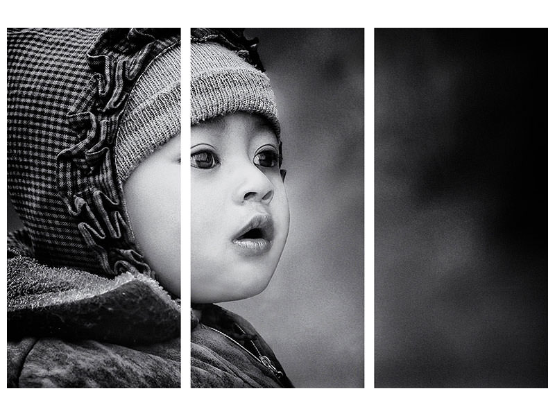 3 Piece Canvas Print The Kid From Sarangkot