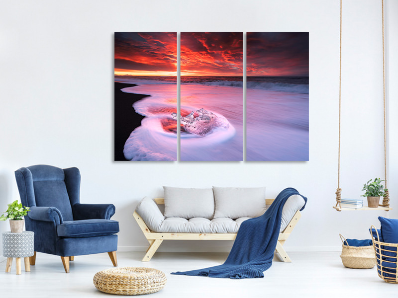 3 Piece Canvas Print Ice And Fire