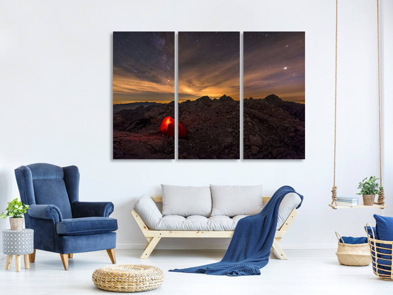 3 Piece Canvas Print Resting Place In The Wilderness