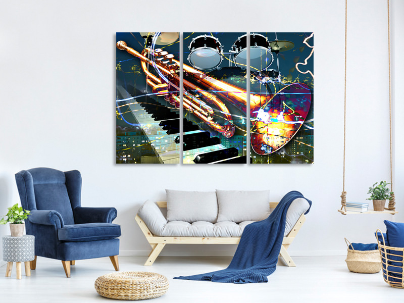 3 Piece Canvas Print Let The Music Play