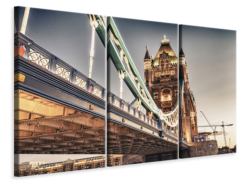 Stampa su tela 3 pezzi Tower Bridge XXL