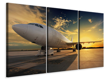 3 Piece Canvas Print Jet