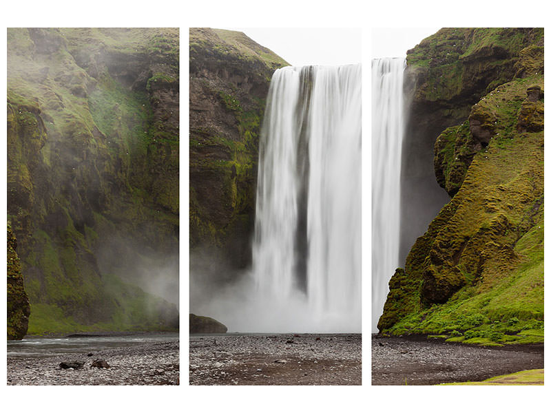3 Piece Canvas Print Skogafoss