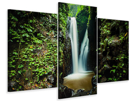 Modern 3 Piece Canvas Print 2 waterfalls
