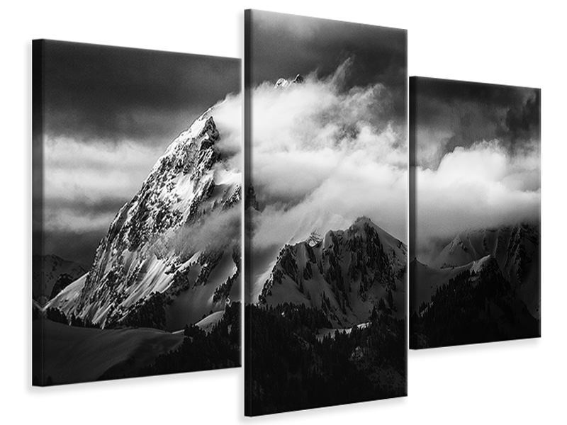 Modern 3 Piece Canvas Print Rock And Wind