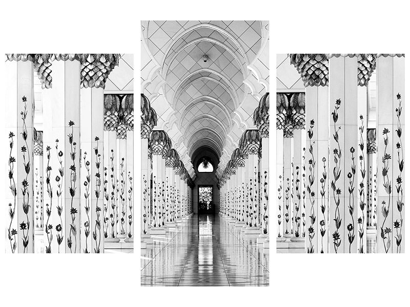 Modern 3 Piece Canvas Print Sheik Zayed Mosque