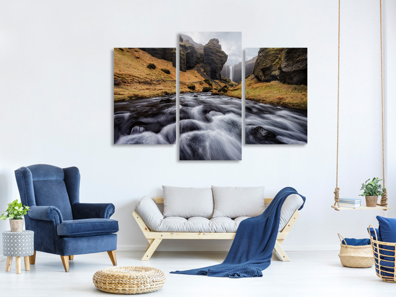 Tableau sur toile en 3 parties moderne The Hidden Gem