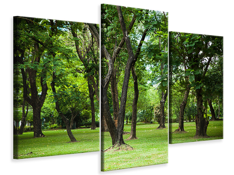 Modern 3 Piece Canvas Print Cherry Garden