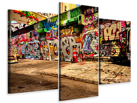 Modern 3 Piece Canvas Print Graffiti NY