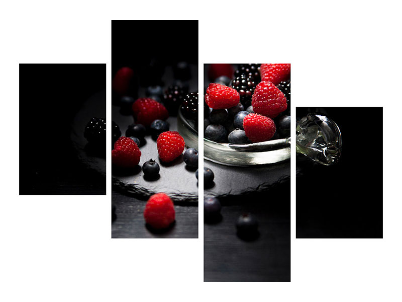 Modern 4 Piece Canvas Print The variety of berries