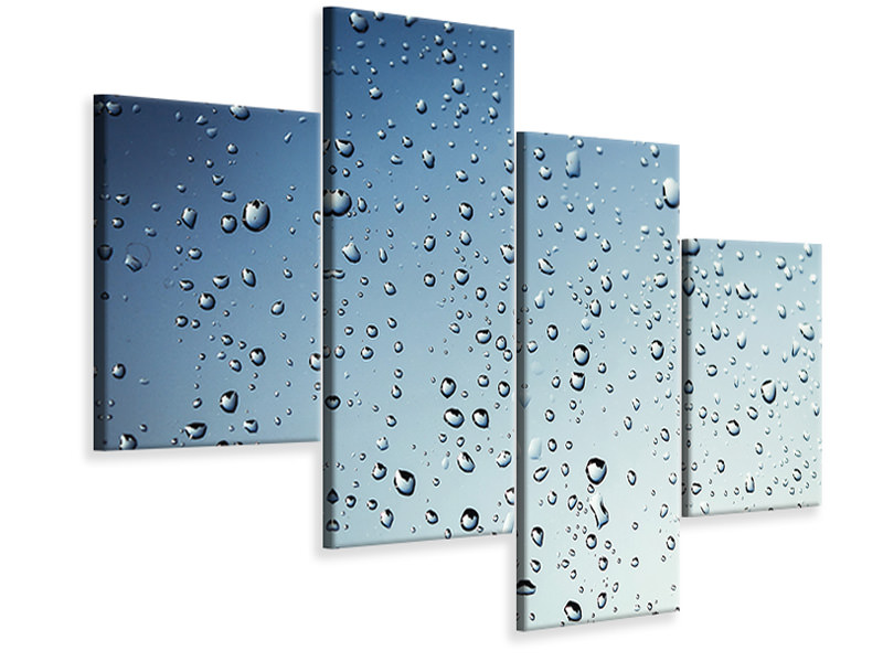 Modern 4 Piece Canvas Print A wall of rain