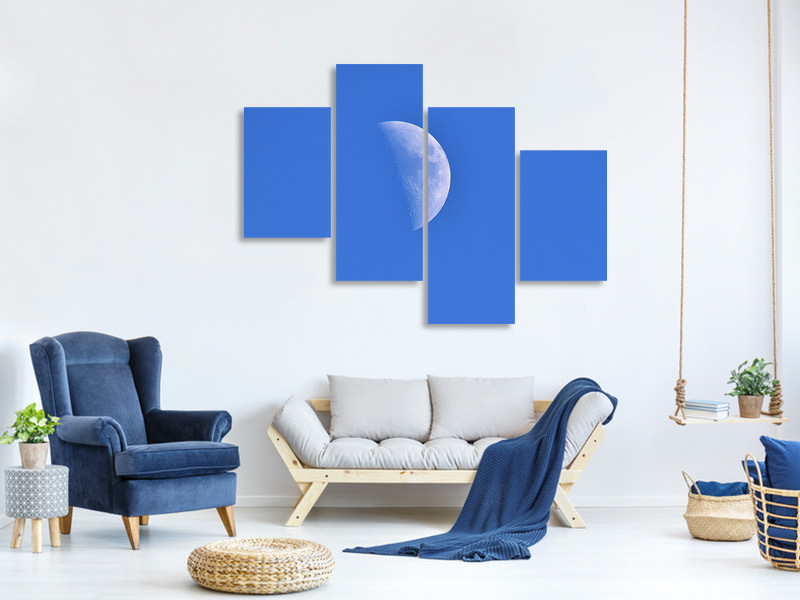 Modern 4 Piece Canvas Print The crescent