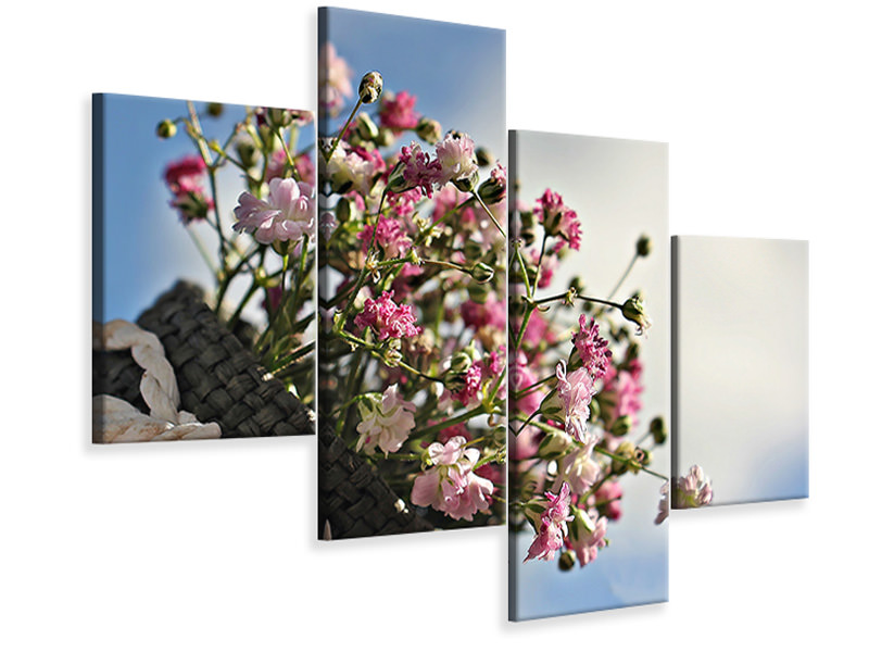 Modern 4 Piece Canvas Print The gypsophila