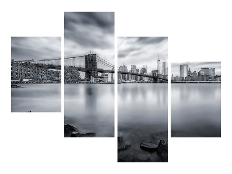 Stampa su tela 4 pezzi moderno Brooklyn Bridge