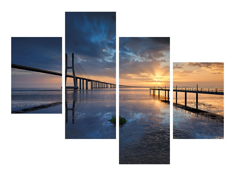 Modern 4 Piece Canvas Print Physical