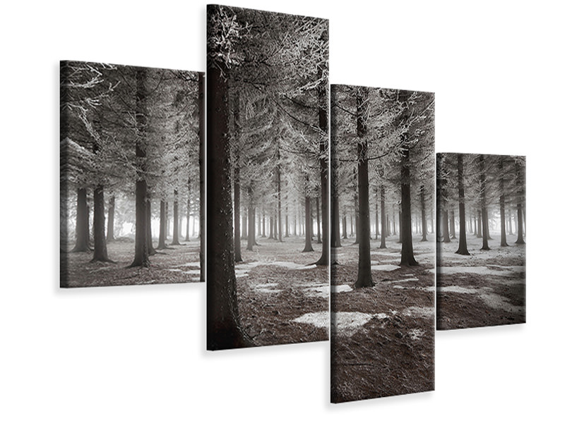 Modern 4 Piece Canvas Print The Onset Of Winter