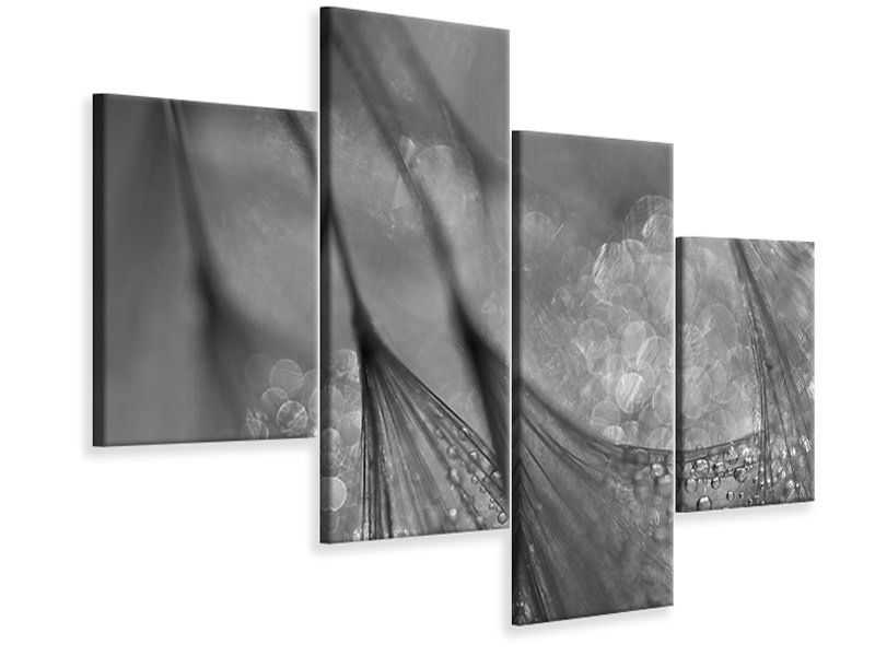 Modern 4 Piece Canvas Print Untitled 19