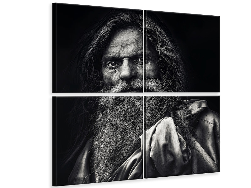 4 Piece Canvas Print The Man From Agra