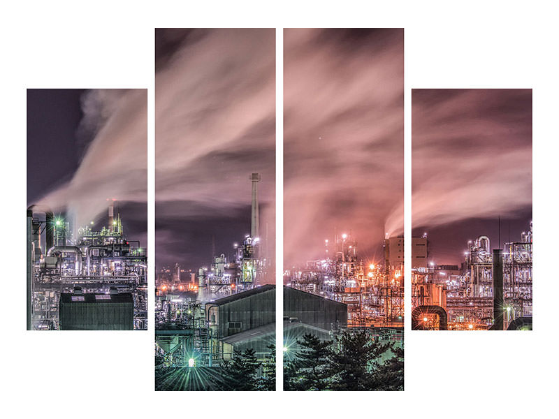 4 Piece Canvas Print Steam