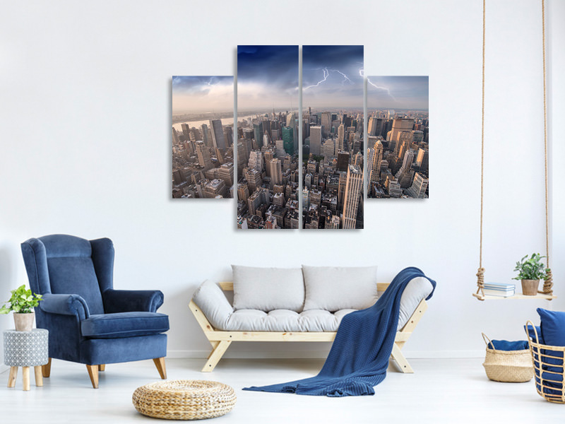 4 Piece Canvas Print Manhattan