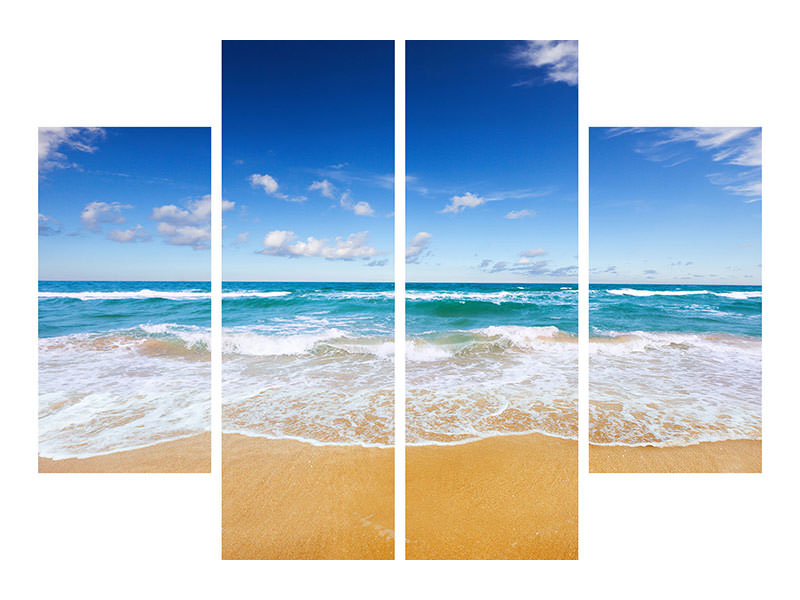 4 Piece Canvas Print The Tides And The Sea