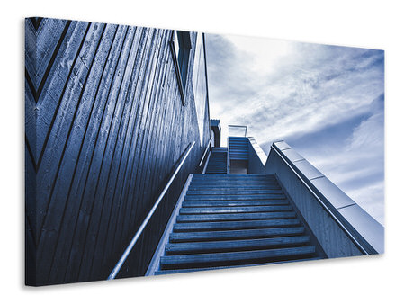 Canvas print Steep stairs