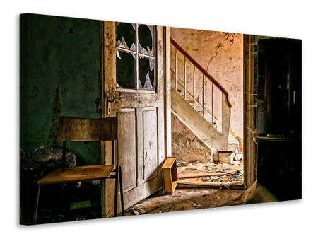 Canvas print Crumbled stairs