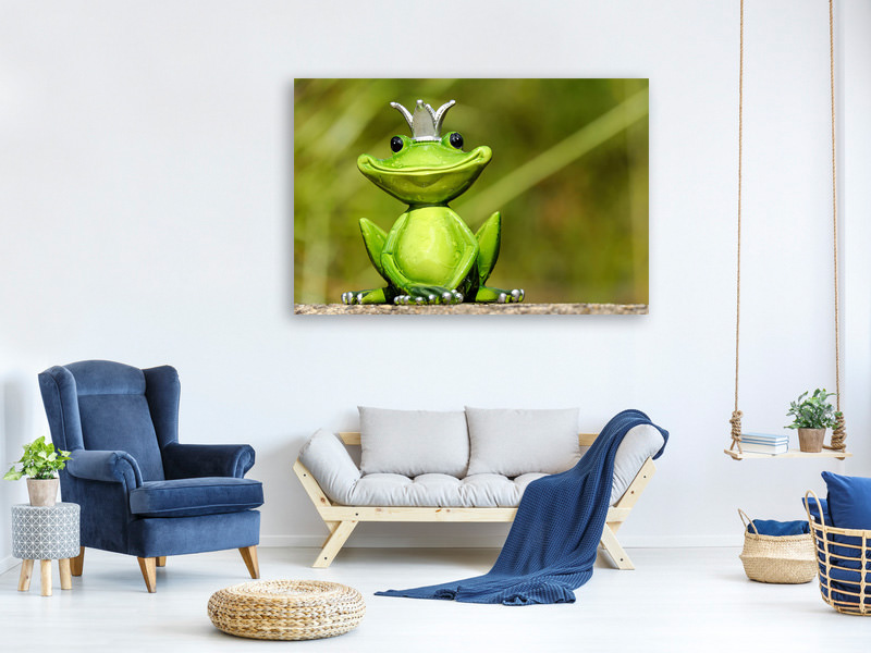 Canvas print Mr. Frog King