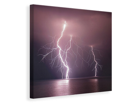 Canvas print Thunderbolt Over The Sea