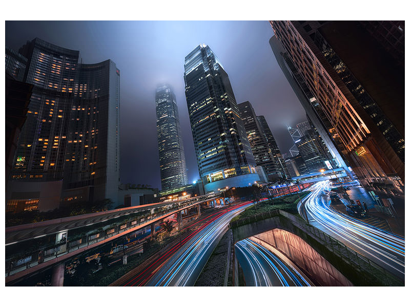 Canvas print Hong Kong City Lights