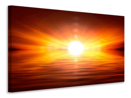 Canvas print Glowing Sunset