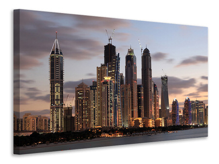 Canvas print Skyline Dubai At Sunset