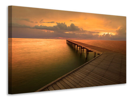 Canvas print The Footbridge  By The Sea