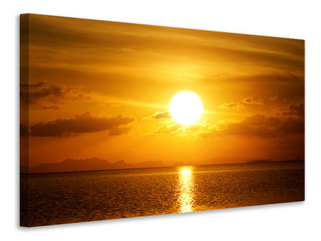 Canvas print Sunset Lake