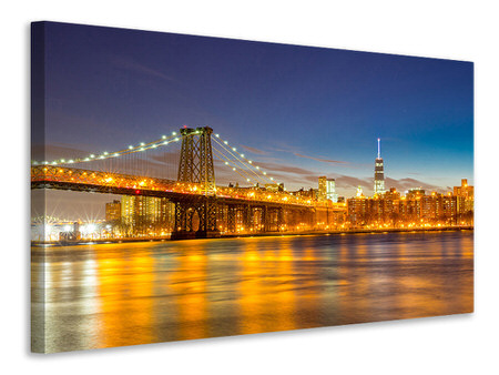 Canvas print Skyline NY Williamsburg Bridge