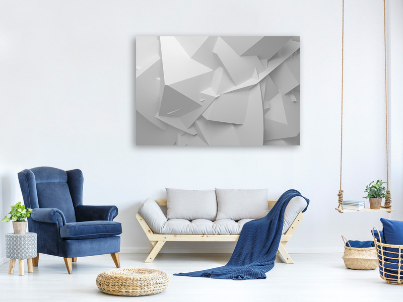 Canvas print 3D-Grid