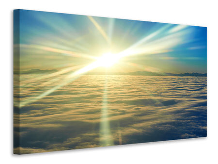 Canvas print Sunrise Above The Clouds