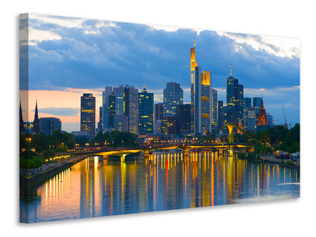 Canvas print Skyline Frankfurt