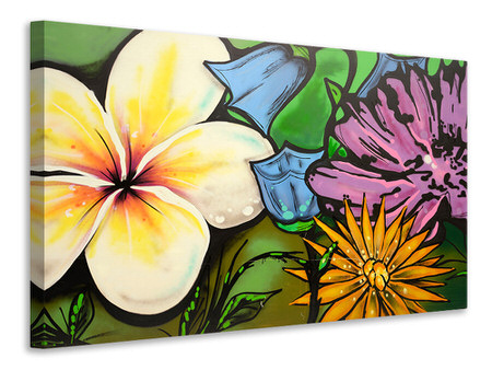 Canvas print Graffiti Flowers