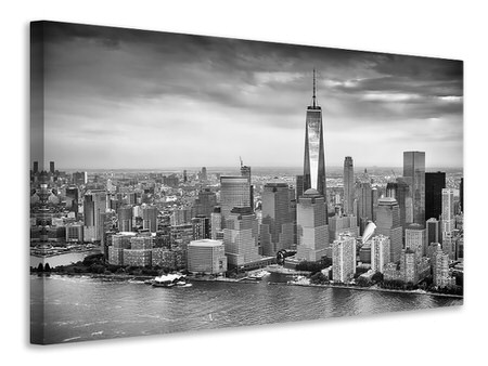 Canvas print Skyline Black And White Photography New York