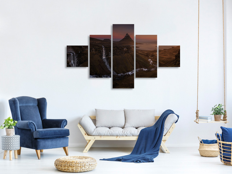 5 Piece Canvas Print Castan XIII